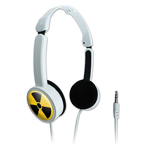 aufliegende Kopfhörer, faltbar Zombie Outbreak Strahlung Radioactive Symbol–Nuclear Fallout ACHTUNG strukturiert (Achtung Zombie)