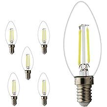E14 Bombilla vela LED E14, Retrofit Filamentos Classic, LED Pera como lámpara pistón,