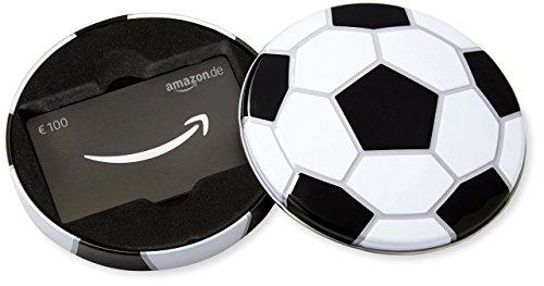 Amazon.de Geschenkkarte in Geschenkbox - 100 EUR (Fussball)