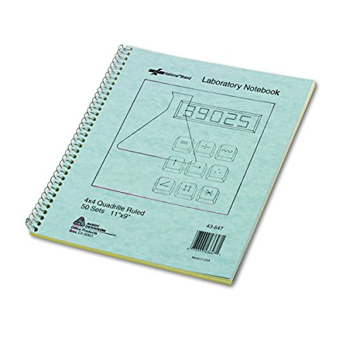 Wirebound Duplicate Lab Notebook, Quadrille Rule, 9 x 11, 100 Sheets (Quadrille Notebook Ruled)