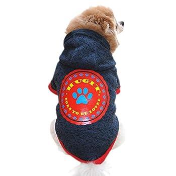 Chiens Textiles et Accessoires,Chemise De CrèMe GlacéE pour L'éTé De Chiot pour Animaux Domestiques,Chiens Manteaux d'hiver (XL, Bleu foncé)