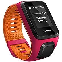 TomTom Runner 3 Cardio + Music - Montre de Sport GPS - Bracelet Fin Fushia/Orange (ref 1RKM.001.02)