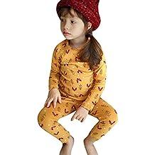 YanHoo Ropa para niños Ropa Linda Animal Print Tops de Manga Larga + Pantalones Pijamas Home
