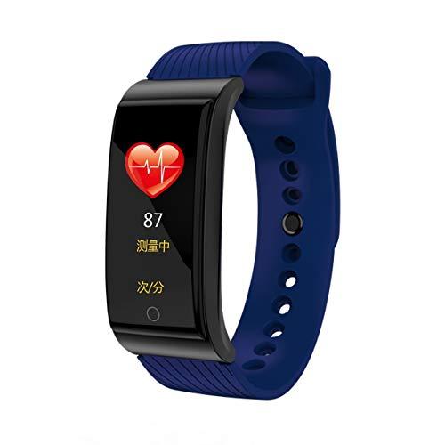 YWYU Fitness Tracker Activity Tracker Uhr mit Pulsmesser, IP67 Wasserdichtes Smart Armband mit Kalorienzähler Schrittzähler Uhr für Android und iOS (Farbe : Blau)
