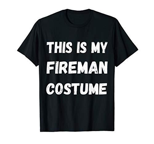 This Is My Feuerwehrmann Kostüm Feuerwehr Rettungsmann Shirt (Rot Feuerwehrmann Kostüm Frauen)