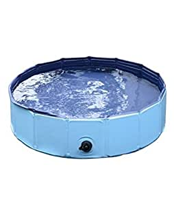 Dog paddling pool for pets portable outdoor garden pool for Pop up paddling pool