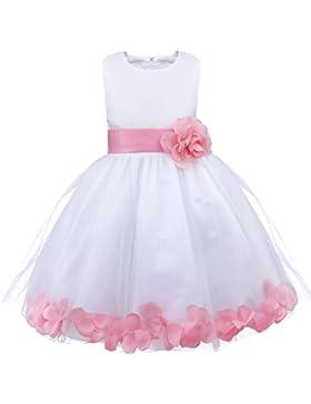 iiniim Mädchen Kleid Prinzessin-Kleid Ärmellos Blumenmädchenkleider Tütükleid Mehrfarbe