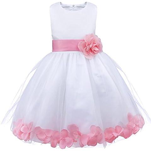 iEFiEL Vestido de Flores Boda de Niñas Elegante Vestido de Princesa Infantil