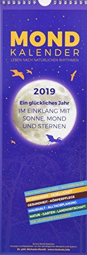Mondkalender 2019 - Streifenkalender: by Dr. phil. Michaela Mundt por Michaela Mundt