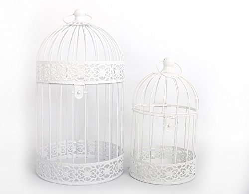 set-of-two-white-metal-decorative-bird-cages