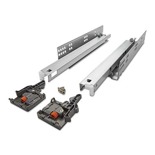 Sotech 1 Paar SO-TECH® FullSlide Vollauszüge Schubladenauszüge 450 mm für Holzschublade
