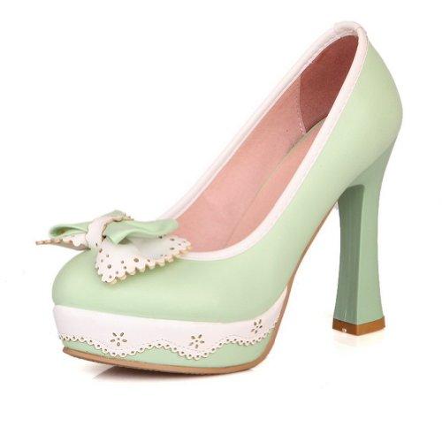 Adee - Sandali con Zeppa donna Verde (Verde chiaro)