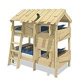 WICKEY Spielbett Etagenbett CrAzY Creek Kinderbett 90x200 cm Abenteuer Hochbett