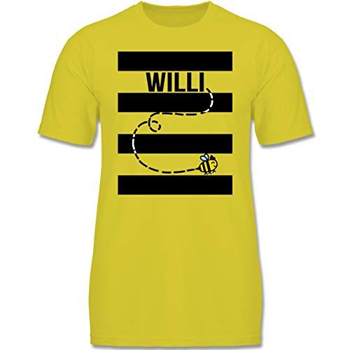 (Karneval & Fasching Kinder - Bienen Kostüm Willi - 134-146 (9-11 Jahre) - Gelb - F140K - Jungen T-Shirt)