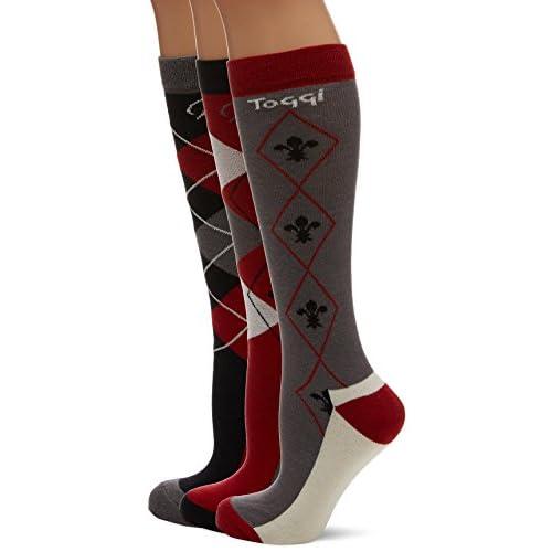 41B3bTVBCPL. SS500  - Toggi Ladies Socks Chestermere 3 Pack - Black