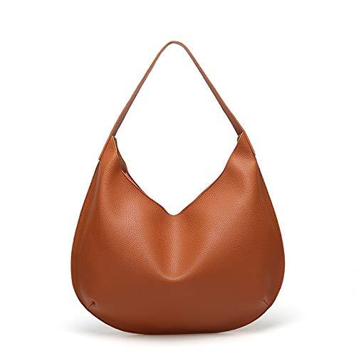 Schnalle Hobo Handtasche (Jsfnngdv Damen Multifunktions Schulter Hobo Bag Weiche PU Leder Handtasche Damen Geldbörse (Color : Brown))