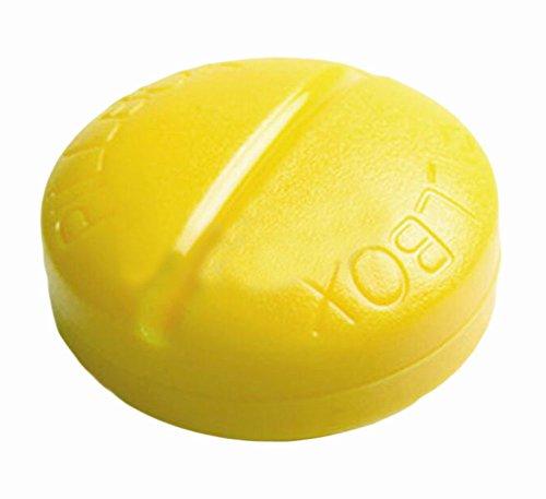 Gelb Schrank Veranstalter (Creative-Pill geformten beweglichen Pille Fall Nette 4 Grids Pillbox-Gelb)