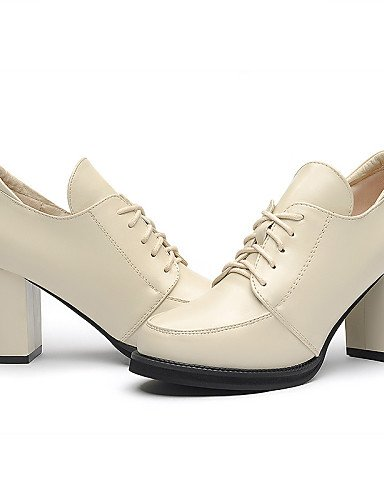 WSS 2016 Chaussures synthétique de bureau talons / automne / hiver des femmes&carrière / casual gros talon paillettes scintillantes noir / beige-us6.5-7 / eu37 / uk4.5-5 / cn37