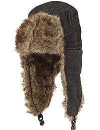 BRUBAKER bonnet unisexe pilotenmütze jeansstyle tendance