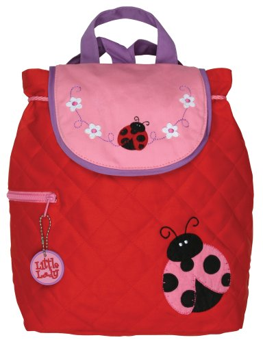 Stephen Joseph Childrens Cotton Quilted Backpack, Ladybird
