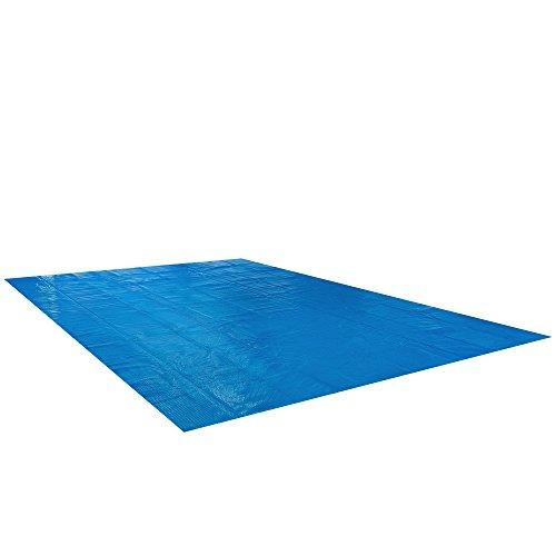 Arebos Pool Solarfolie in verschieden Größen (rund oder eckig, große Materialstärke von 400 μm/My / 0,4 mm) (Eckig 6 x 4 m)