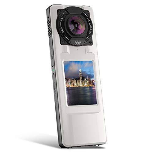 LLC-POWER 720 ° Outdoor Panoramic Motion Kamera mit 2.0 Zoll LCD-Display, 3D VR Panoramic, 4K HD Digital Video Dual Wide Angle Fisheye Lens, Supports SD, WiFi Echtzeit-Übertragung