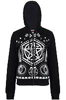 Cult Pentagram Symbols Printed Hoodie Goth Punk Emo