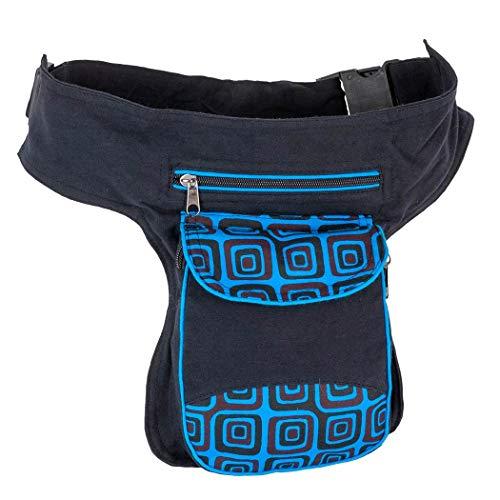 Riñonera Lateral Hippie Unisex Azul