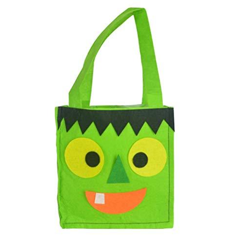 BESTOYARD 4pcs Halloween Geist Einkaufstasche Süße Sugar Cookie Candy Bag Handtasche für Kinder (Hellgrün)