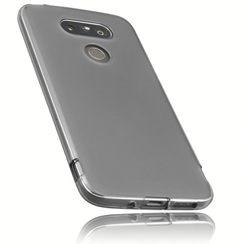 mumbi Schutzhülle LG G5 Hülle transparent schwarz