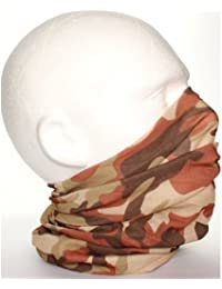 TC-Accessories Brown Beige Camouflage 12 in 1 snood tube scarf