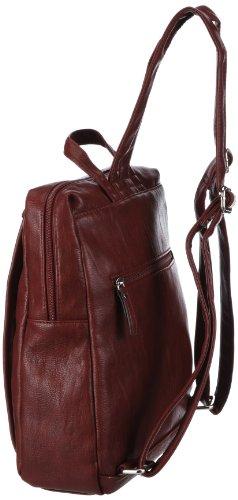 Gabor UTA Rucksack, dunkelrot 6385 48, Damen Rucksackhandtaschen 23x27x8 cm (B x H x T) Rot (dunkelrot 48)