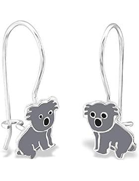 So Chic Schmuck - Kinder Ohrhänger Koala Ohrringe Emaille Farbe Sterling Silber 925