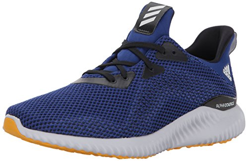 Adidas Performance Alphabounce M - Zapatillas de Running para Hombre, Azul (Mystery Ink/Black/Tactile Yellow), 12 D(M) US