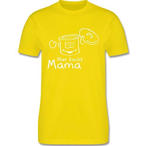 Küche - Hier kocht Mama - Herren Premium T-Shirt Lemon Gelb
