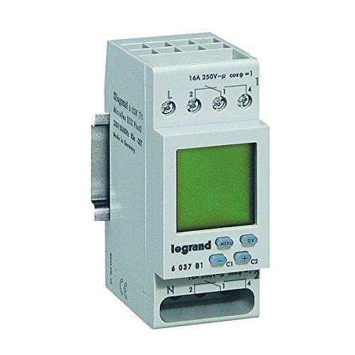 digitale Wochen-Zeitschaltuhr MicroRex D22, 2 Kanal, 2-modulig für Hutschiene mit 230V und 4000W