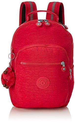 Kipling SEOUL GO S Mochila escolar, 35 cm, 8 liters, Rosa True Pink