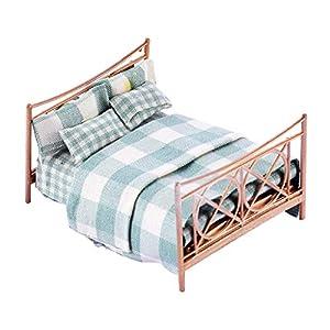 SM SunniMix 1/25 Doppelbett Möbel Set für Puppenhaus Puppenstube Schlafzimmer