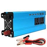 SURFMALL Spannungswandler Wechselrichter Inverter Stromwandler 5000W / 24V DC auf 220V AC mit USB Autoladegerät und Steckdose