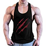 Cabeen Uomo Bodybuilding Canotta Gym Canottiera Tank Top Stringer