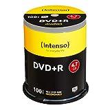 Intenso DVD-R onbewerkte spindel 4,7 GB 1 x 16 x 25 cm spindel cakebox krasbestendig DVD+R 100er Spindel geen
