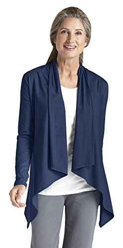 Coolibar Damen Schutzfaktor 50+ Zno Uv Sun Wrap, Blau, 44 (Shirt Damen Knitterfrei Baumwolle)
