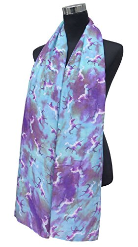 Lina-Lily-Unicorn-and-Galaxy-Print-Womens-Large-Scarf
