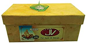"""AsiaCraft 8 PCs Pure Cow Dung Cakes (Gobar Upla) for Hawan and Indian Rituals, Dia 8"""""""