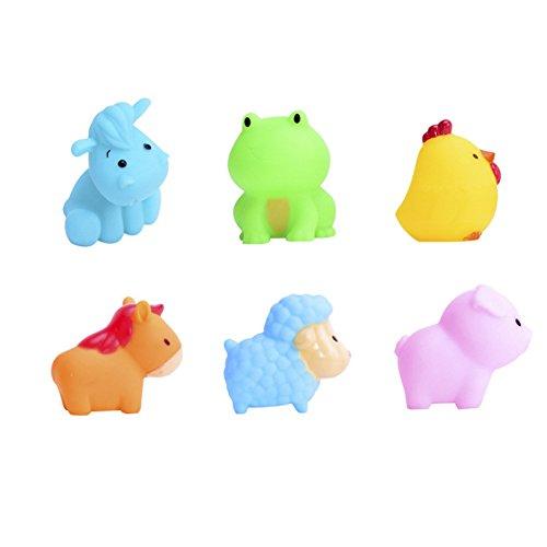 ouken Soft Squirt Badespielzeug Rubber Tub Squirt Spielzeug Tier-Spielzeug für Kinder Badespielzeug ungiftiges Schwimmdock Badespielzeug 1Set