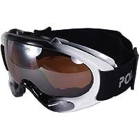 POLARLENS SERIES PG18-02 Skibrille / Snowboardbrille / Sonnenbrille mit FLASH-MIRROR-Verspiegelung + Microfaser-Tasche mit Putztuch-Funktion + Pflege-Set 1PG0d6