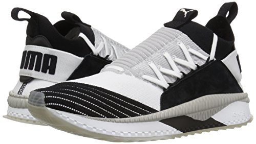 PUMA Men s Tsugi JUN Cubism Sneaker  White Black Gray Violet  13 M US