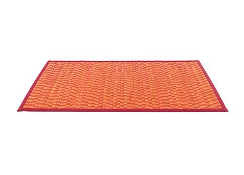 Biancheriaweb - Bambusteppich unifarben 70x140 rot