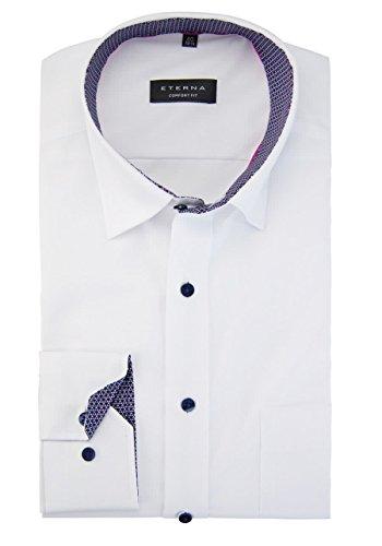 Eterna long sleeve Shirt COMFORT FIT Chambray uni Bianco