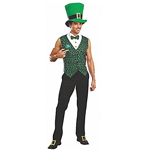 t Mann Barry Weste mit Hut St. Patricks Day (XL) (Ire Kostüm)